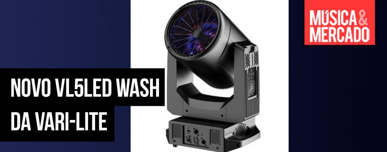 O moving VL5LED Wash da Vari-Lite estará disponível em breve