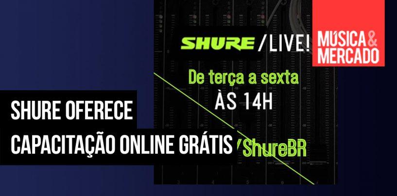 Cursos, treinamento e aulas virtuais da Shure no Brasil