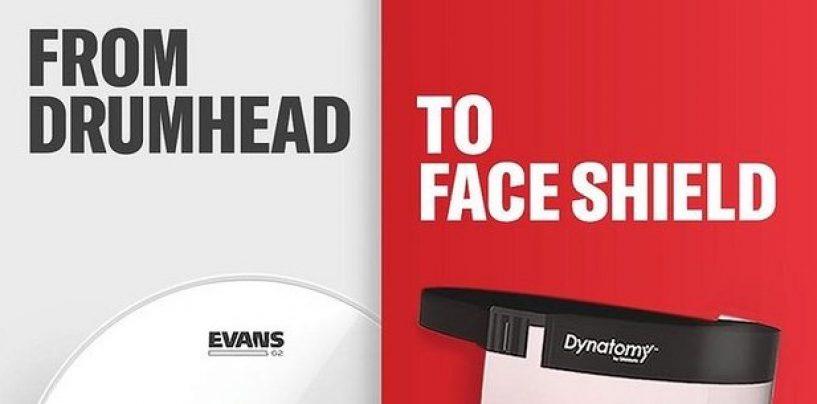 Peles de bateria Evans se transformam em protetores contra coronavírus