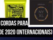 Melhores cordas internacionais para guitarra elétrica de 2020