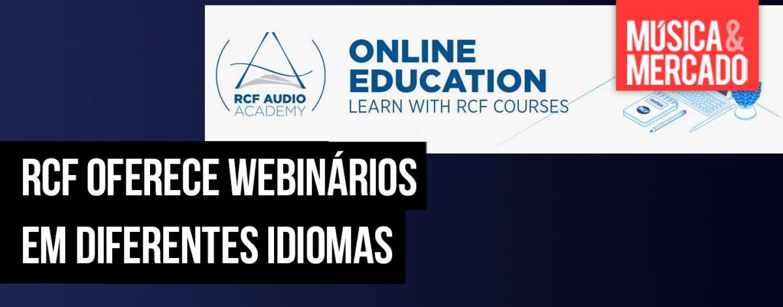 Treinamento RCF através de webinários