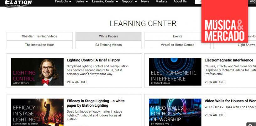 Elation Professional lança centro de aprendizagem on-line