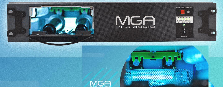 Sanitiser ST-1 da MGA Pro Áudio para desinfetar microfones