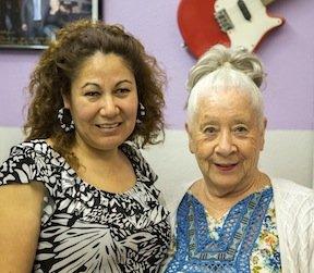 Josefina Campos e Abigail Ybarra