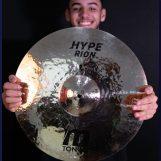 Tonum Cymbals faz parte do setup de Renan Augusto Soares