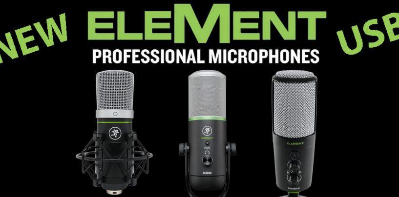 Mackie lança novos microfones USB EleMent e fones MC-100