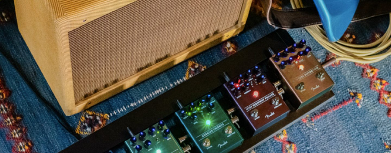Novos pedais de efeito da Fender