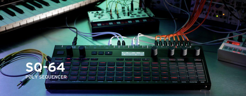 Sequenciador SQ-64 da Korg disponível em 2021