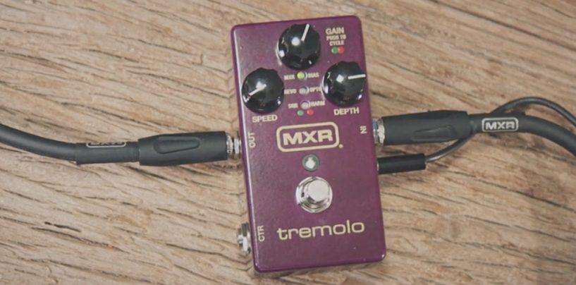 Pedal tremolo volta para a MXR com seis formas de onda