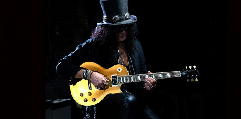 "Gibson introduz Slash ""Victoria"" Les Paul Standard Goldtop"