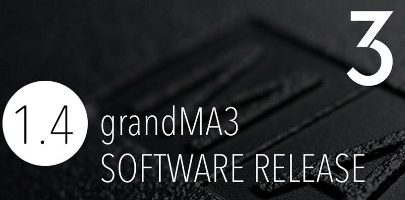 Software grandMA3 1.4.: novas características