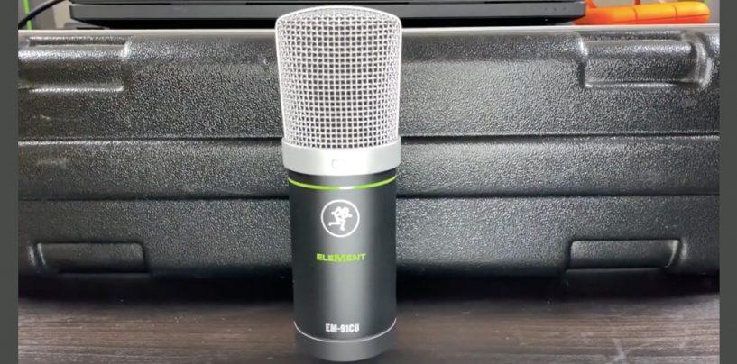 Microfone USB EM-91CU da Mackie