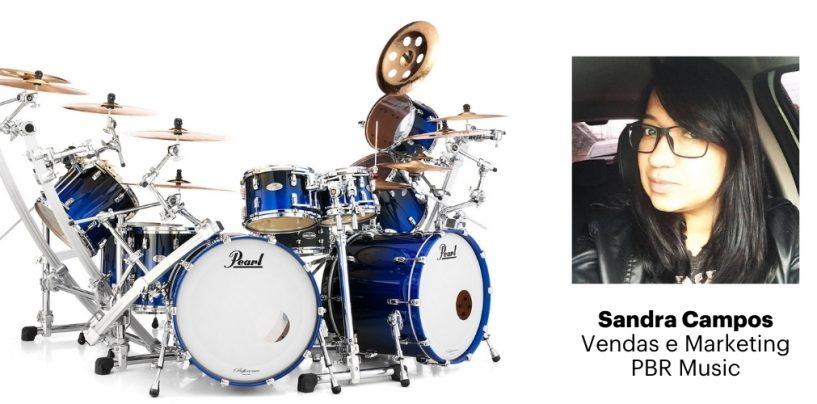 Sandra Campos integrará o time da Pearl Drums Brasil