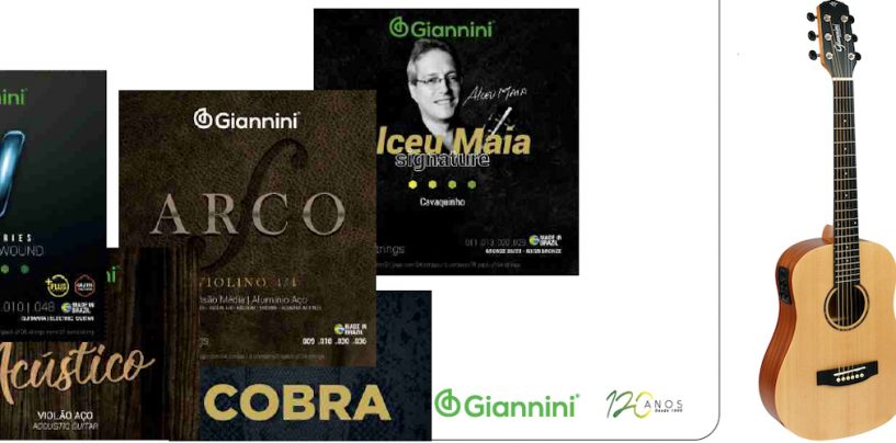 Giannini apresenta novas embalagens para seus encordoamentos