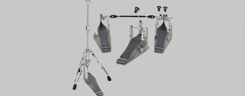Pedais DW MFG disponíveis em modelos de pedaleira estendida