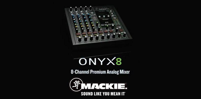 Mixer analógico Onyx8 da Mackie