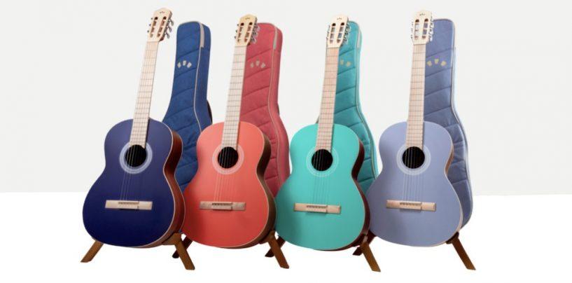 Violões coloridos da Córdoba disponíveis no mercado internacional