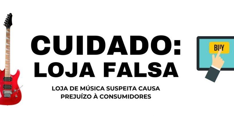 Loja de instrumentos musicais suspeita causa prejuízo à consumidores