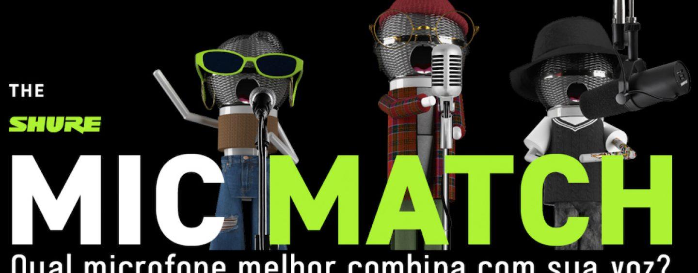 Shure apresenta Mic Match para encontrar microfone apropriado