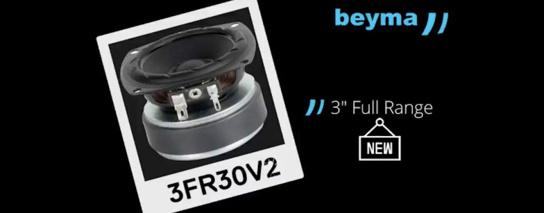 Beyma lança transdutor 3FR30V2 full range