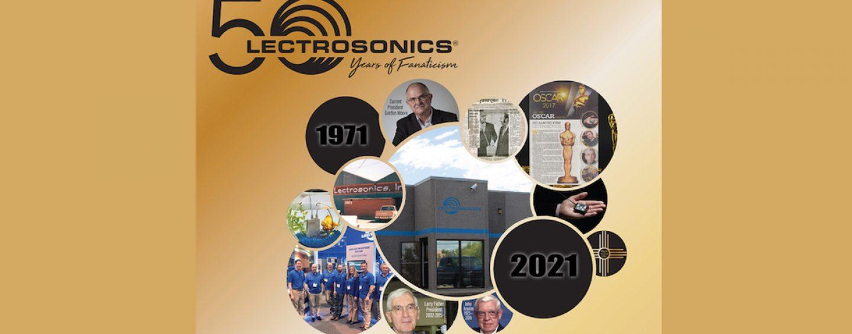 Lectrosonics comemora 50º aniversário