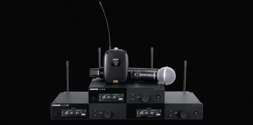 Sistema sem fio digital SLX-D da Shure tem novos recursos