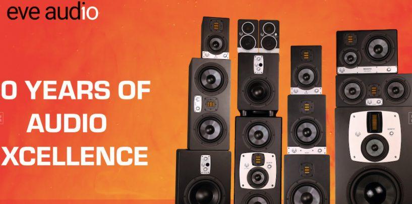 10 anos da EVE Audio na fabricação de monitores de estúdio