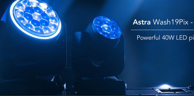 Luzes wash LED Astra Wash7Pix e Astra Wash19Pix da Prolights