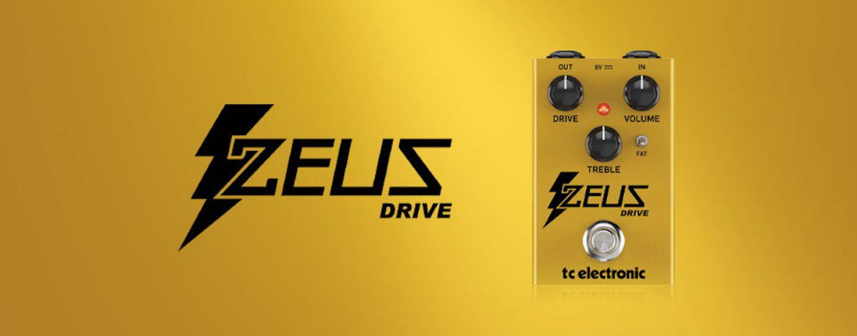 Novo pedal Zeus Drive da TC Electronic
