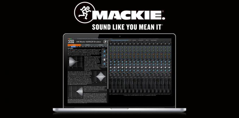 Experimente o simulador analógico 1604VLZ4 de Mackie